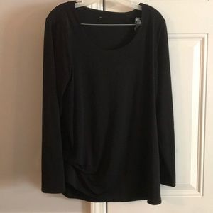 Rouged Long Sleeve Top